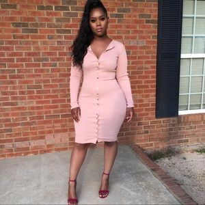 Fashion Nova Mauve Pink Vintage Jams Dress XS